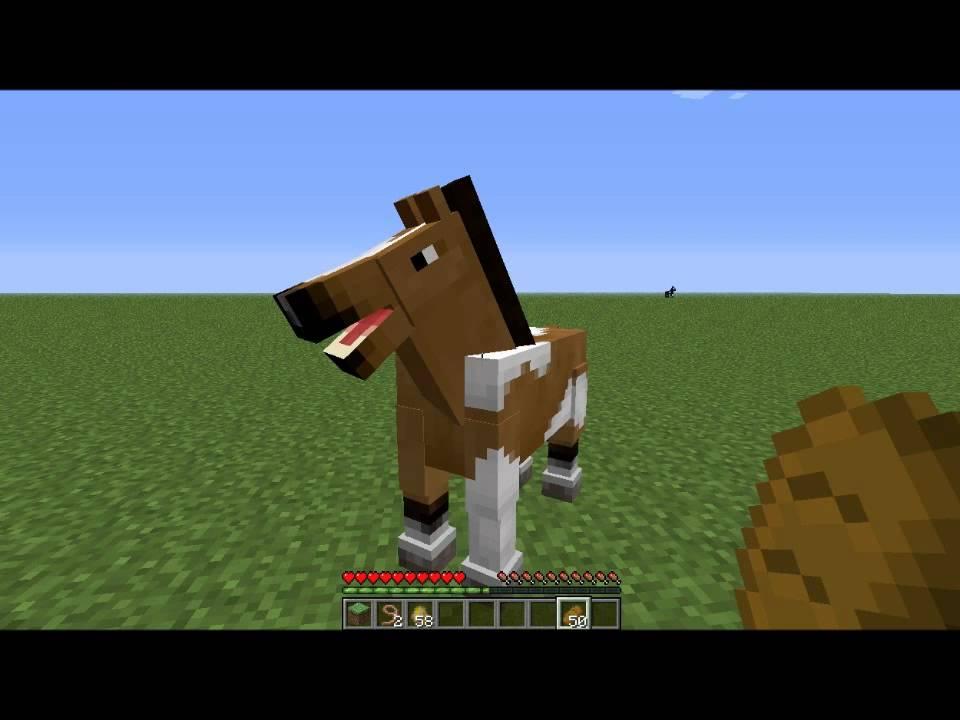 Tuto minecraft comment monter un cheval creatif youtube - Cheval minecraft ...