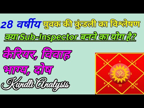 26 Year Old Person Police Career, Job, Finance, Marriage, Property Kundli  Analysis | Astro Knowledge
