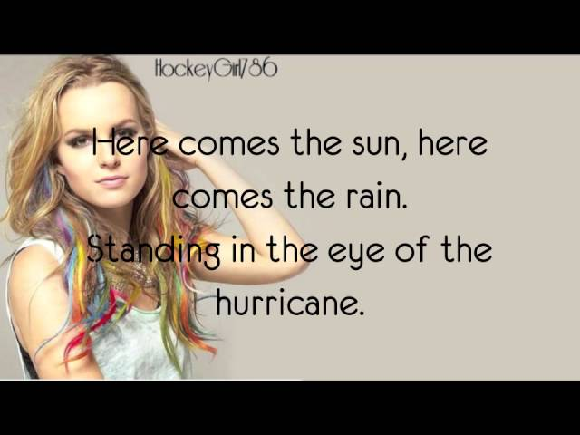 Hurricane- Bridgit Mendler (Official Lyrics) Travel Video