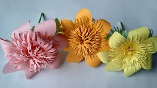 How to make a paper flowers - paper crafts and paper flowers