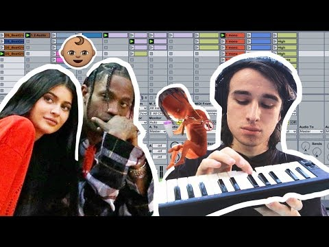 Making a nice lullaby for Travis Scott's baby