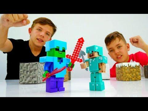 Видео игры Майнкрафт - Стив против мобов Minecraft!
