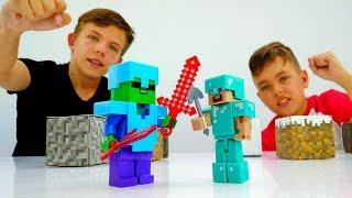 Секреты игры Майнкрафт - Стив против мобов Minecraft!