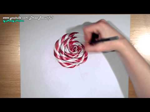 Drawing Amazing Sugar Candy – Lollipop – Hyperrealistic art