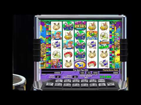 Stinkin Rich IGT Pokie Machine - Just Kept Getting Free Spins! - Great Video Slots Win