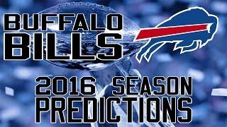 Buffalo Bills 2016 Season Predictions