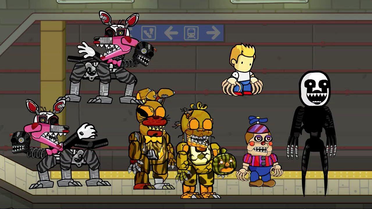 Scribblenauts Unlimited 143 FNaF 4 Halloween DLC Characters
