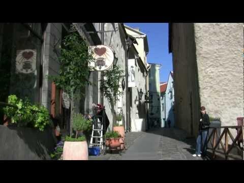 A walk thru Tallinn Estonia Watch in HD.