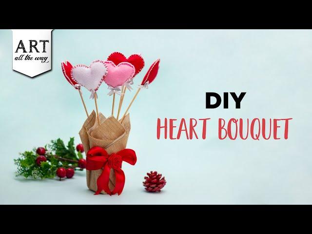 DIY Heart bouquet | Valentine's Day Craft | Easy Home Decor Ideas