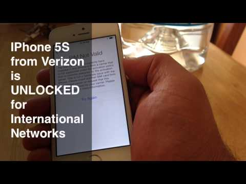 iPhone 5S from Verizon Is UNLOCKED for International Networks