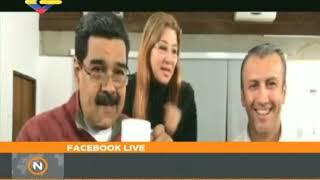 Presidente Maduro y Tareck El Aissami en Facebook Live, 18 abril 2018