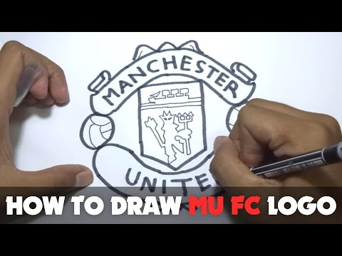 How to Draw a Cartoon - Manchester United FC Logo (Tutorial Step by Step)
