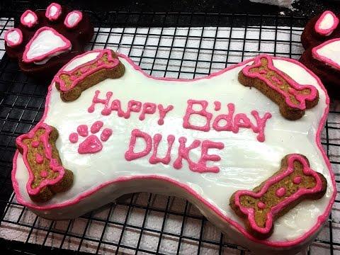 How to make a cake shaped like a dog bone