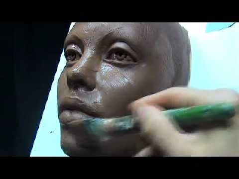 The Art of Sculpting Mask Sculpting face mask in clay