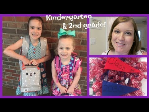 FIRST DAY OF SCHOOL - KINDERGARTEN & 2nd GRADE! | beingmommywithstyle