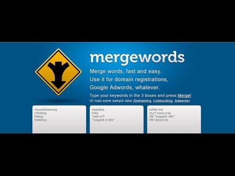 Mergewords ¿Cómo funciona esta herramienta de palabras clave?