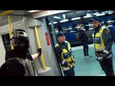 Wearing Spec Ops gear in the Metro (Sweden) w/ subtitles