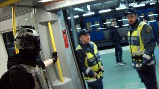 Wearing Spec Ops gear in the Metro (Sweden) w/ subtitles