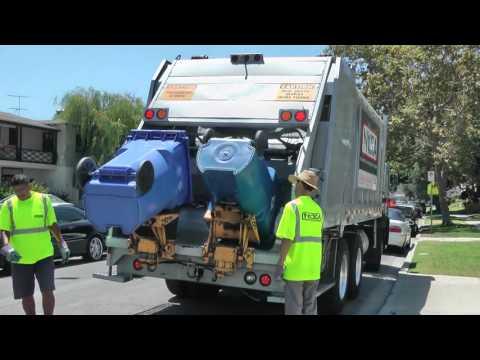 Çöp kamyonun ilginç Çalışma sekilleri   Çöp arabası izle part10