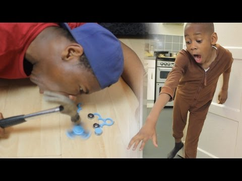 Thumbnail: ANGRY BROTHER SMASHES $100 FIDGET SPINNER (REVENGE PRANK)