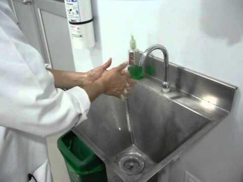 Pasos para el correcto lavado de las manos youtube for Lavado de manos en la cocina