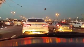 AMG Mercedes GLE 63 driving in Dubai 24.04.2016