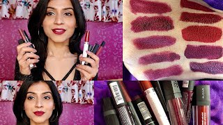 TOP 10 PLUM/ MAROON LIPSTICKS for INDIAN/ MEDIUM/OLIVE Skin Tone | Nidhi Chaudhary