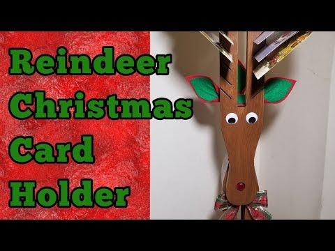 Diy Reindeer Christmas Card Holder Youtube