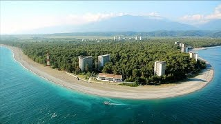 видео Курорты Абхазии. Карта побережья