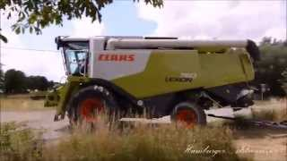 Biggest Combine Harvester Party and 4 Claas 760 u  560/580 2015 Germany