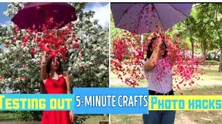 Testing Out VIRAL PHOTO HACKS by 5 Minute crafts