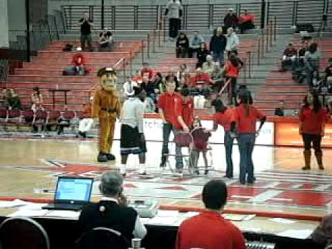 Musical Chairs at Halftime of Sacred Heart basketball game 1-28-12
