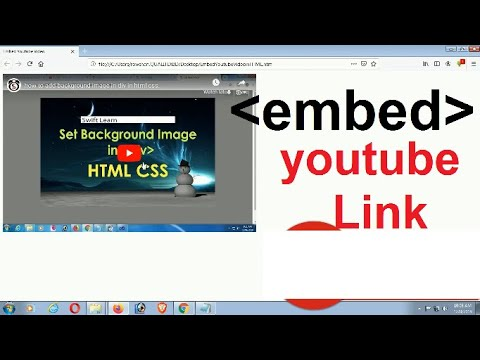 Embed Youtube Video In HTML | Embed Youtube Video In Website | Embed Tag | Swift Learn