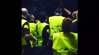 Севилья - Спартак, фанаты vs полиция / Sevilla - Spartak police vs fans