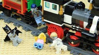 Lego Train Batman Escape from Zombie Attack