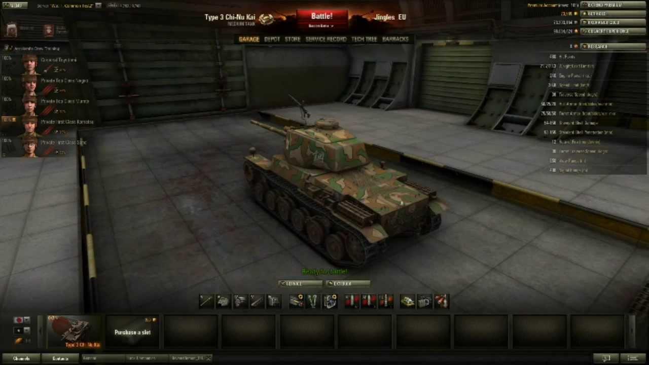 STA-2 Characteristics by Wargaming