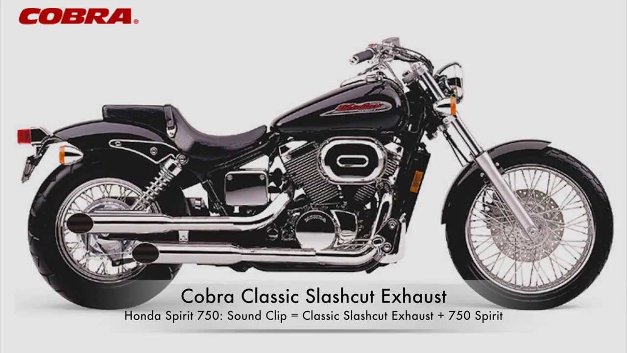 cobra exhaust honda spirit 750 classic slashcut blv1374sc