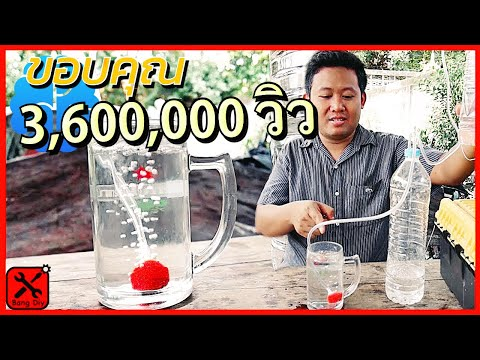 อึ้ง!!ปั้มลมอ็อกซิเจนตู้ปลา จากขวดน้ำ ดูจบทำได้ทันที Air Pump Plastic Bottle   No Electricity