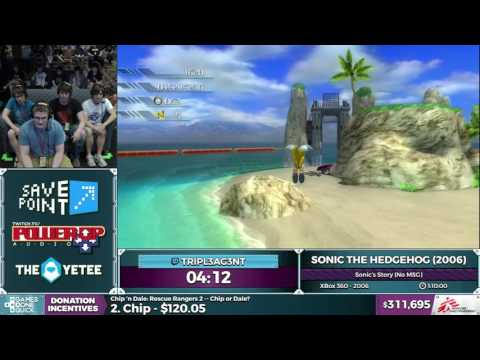 Sonic the Hedgehog (2006) by tripl3ag3nt in 1:01:05 - SGDQ2016 - Part 87