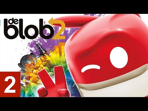 De Blob 2 - Part 2 Let's Play walkthrough (XBOX360/PS3/)