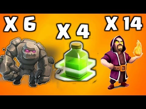 GOLEM AVALANCHE ATTACK AT TH9 IN CLASH OF CLANS