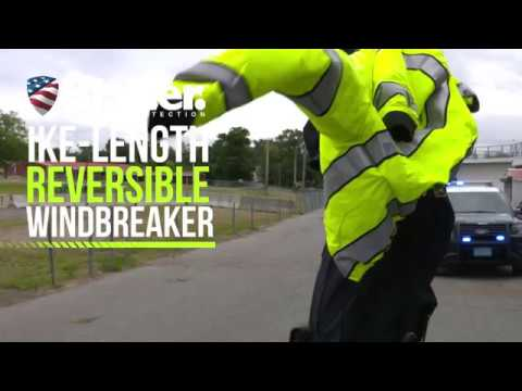 306a241d956 Reversible Hi-Vis Police Jacket - Blauer Ike-Length Windbreaker ...