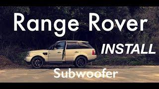 Range Rover Sub Amp Install
