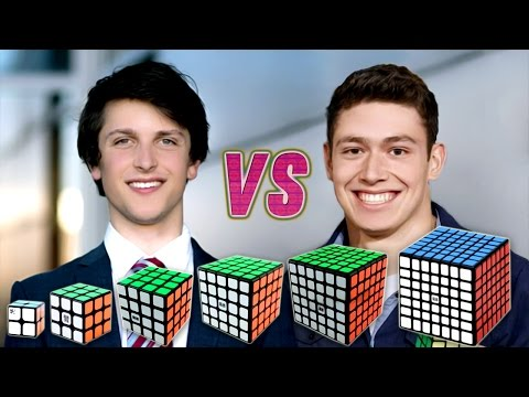 Thumbnail: Rubik's Cube World Record Race Kevin VS Feliks VS WCA Records VS Best Of Feliks And Kevin