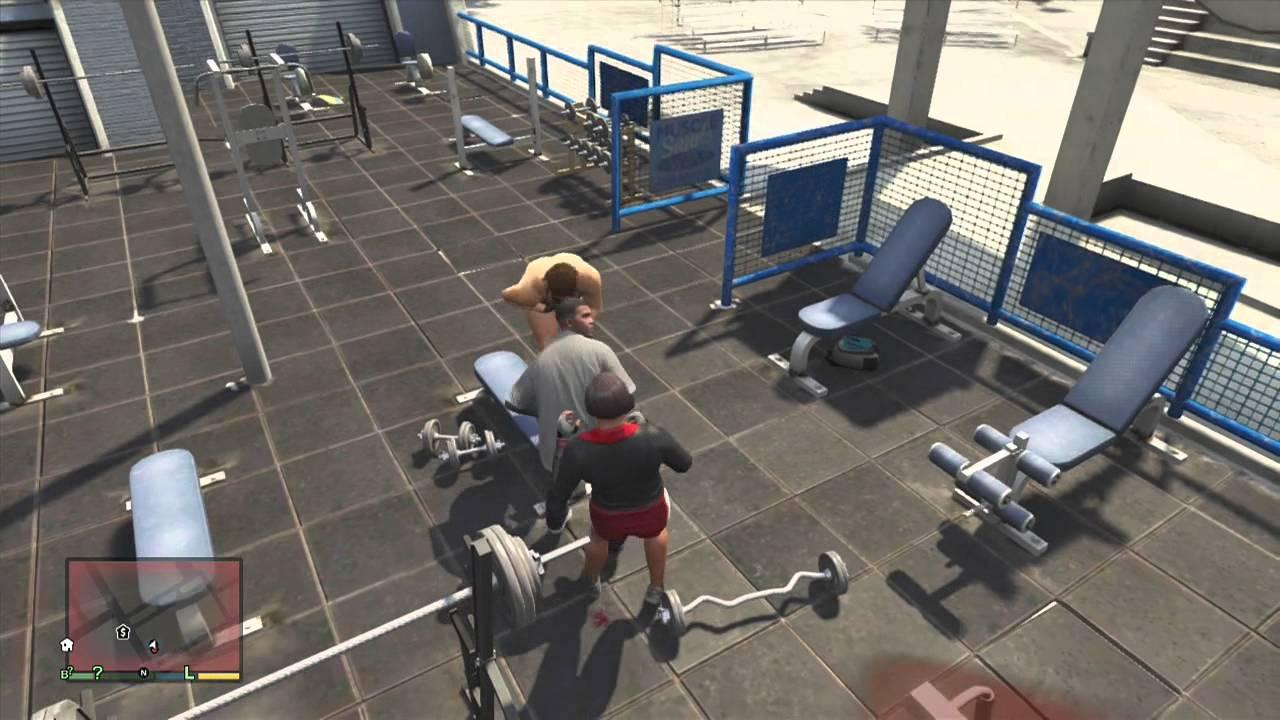 GTA V  Franklin Fight Club Workout  YouTube