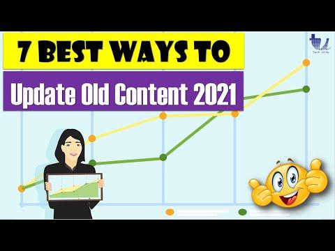 7 Best Ways to Update Your Old (WordPress/Blogger) Content in 2021 [Hindi/Urdu]