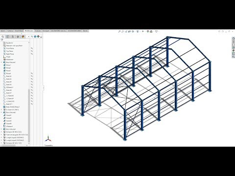 Industrial Shed Design (10-20 m Span) Using Solidwork | As per IS875-part-3|
