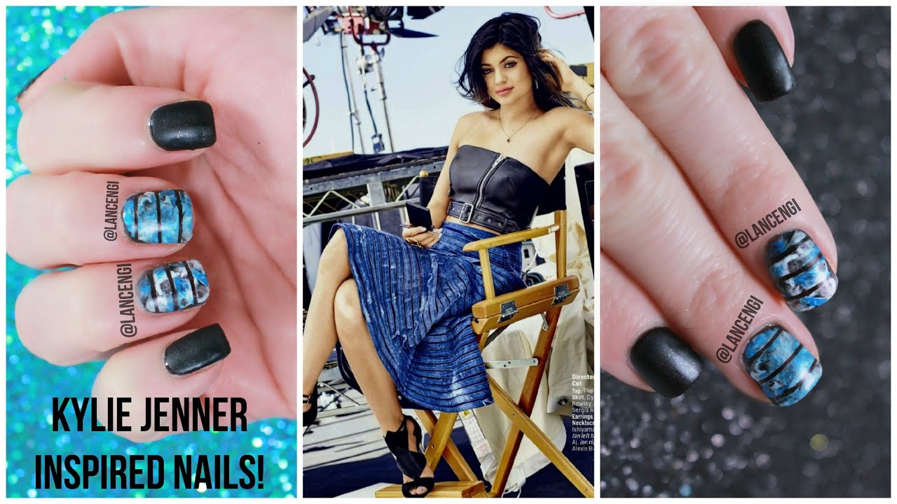 Diy Kylie Jenner Cosmopolitan Inspired Nail Designs 8 Youtube