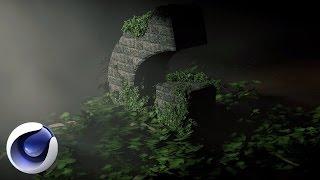 Cinema 4D – Создание растений, листьев, деревьев в Cinema 4D. [Уроки 3D]
