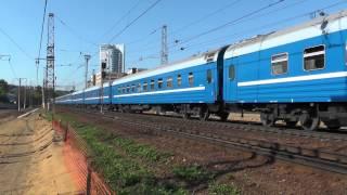 Электровоз ЧС7-041 с фирменным поездом